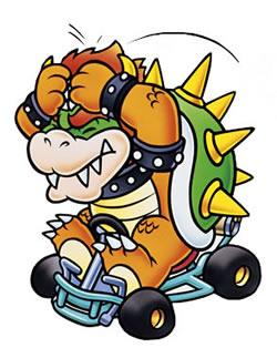 Bowser with his hands on his head in defeat