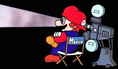 Mario Watching a film