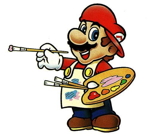 Mario painting