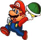 Mario Grabbing A Shell