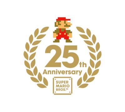Super Mario Allstars 25th anniversary logo
