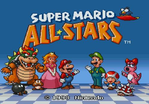 Super Mario All-Stars title screen