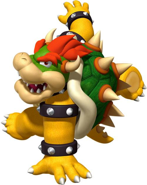 Bowser breakdancing in DDR Mario Mix