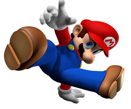 Mario breakdancing