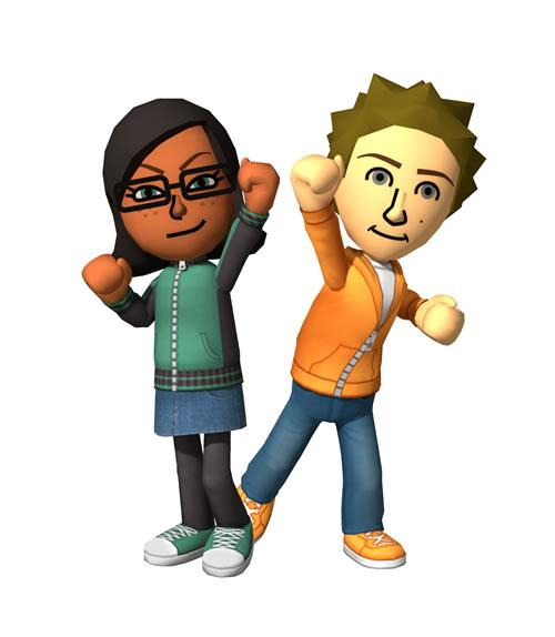 The two gender Miis