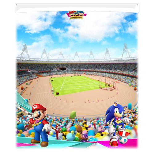Mario and Sonic With Stadium In Background