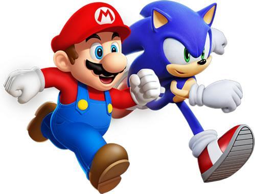 Mario And Sonic Running
