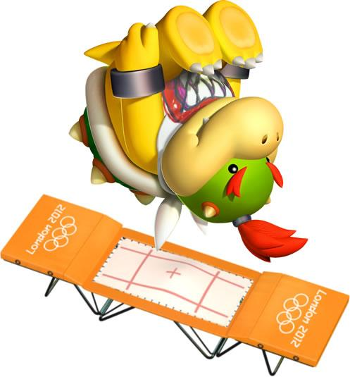 Bowser Jr On Trampoline