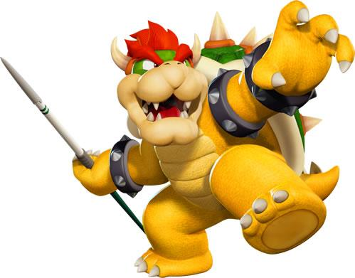 Bowser Throwing Javelin