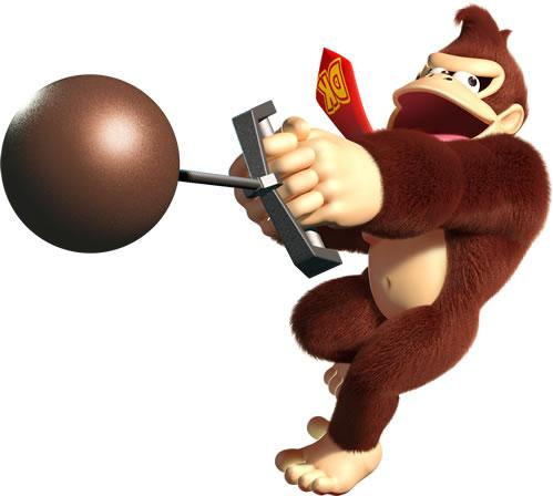 Donkey Kong Throwing Hammer