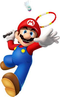 Mario Playing Badminton