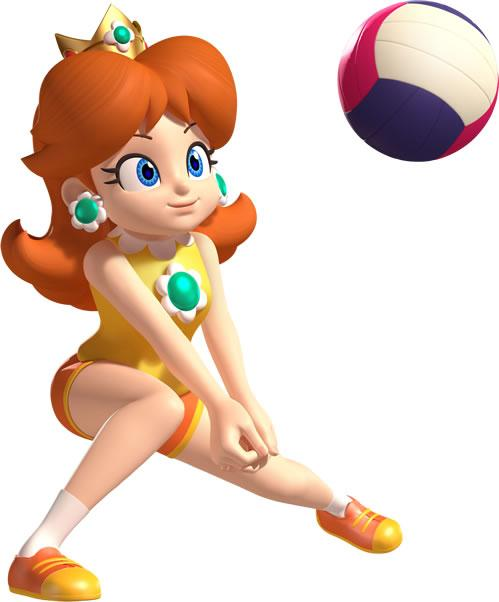 Diasy Playing Volleyball