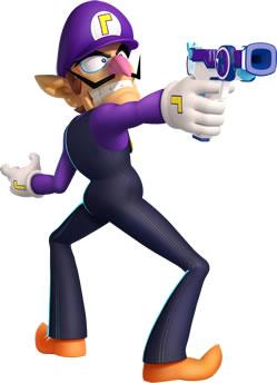 Waluigi With Gun