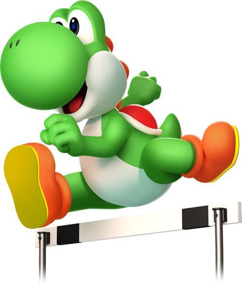 Yoshi Running Hurdles