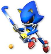 Metal Sonic Playing Grass Hockey
