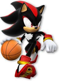 Shadow The Hedgehog Playing Basketball