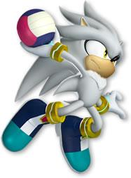 Silver The Hedgehog Playing Handball