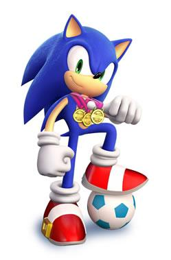 Sonic With Football Ball