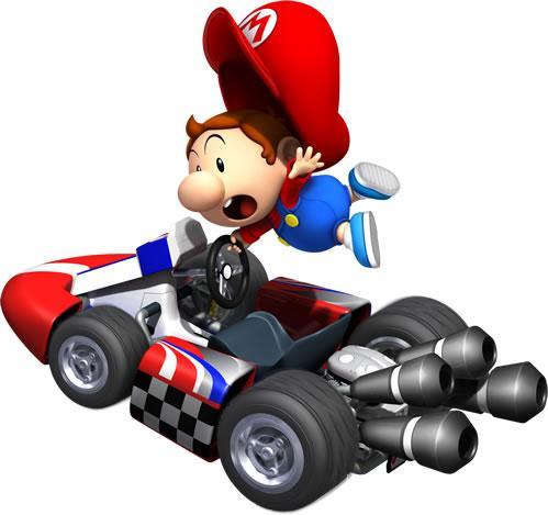 Baby Mario Driving Kart