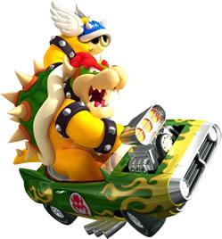 Bowser Driving Car