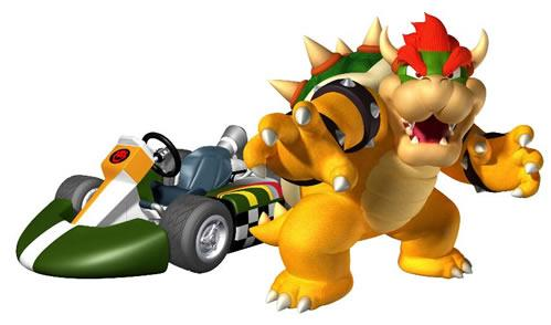 Bowser Standing Next To Kart