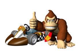 Donkey Kong Next To Kart