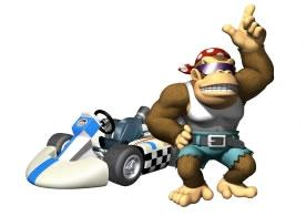 Funky Kong Next To His Kart