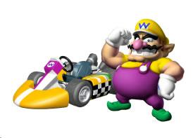 Wario Next To His Kart