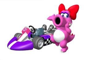 Birdo Next To Her Kart