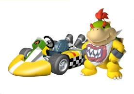 Bowser Jr Next To His kart