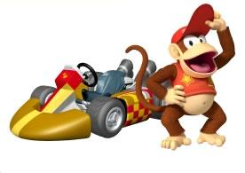 Diddy Kong Next To His Kart