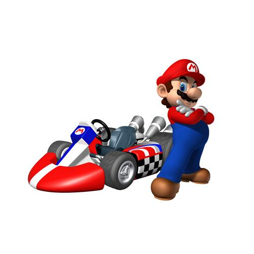 Mario Next To His Kart
