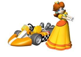 Princess Diasy Next To Her Kart