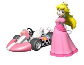 Princess Peach Next To Her kart