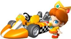 Baby Diasy Next To Her kart