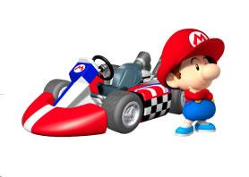 Baby Mario Next To His Kart