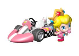 Baby Peach Next To Her Kart