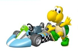 Koopa Next To His Kart