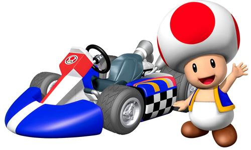Toad Next To His Kart