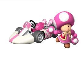 Toadette Next To Her Kart