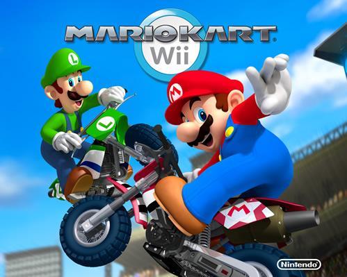 Mario and Luigi on their bikes