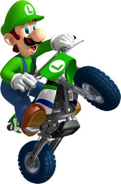 Luigi On Motorcycle