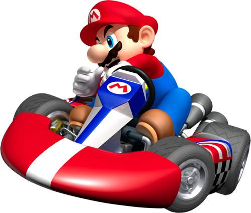 Mario Drifting In Kart