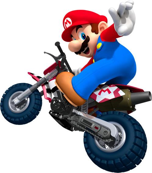 Mario Tricking On Motorcycle