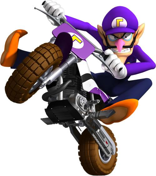 Waluigi On Motocycle