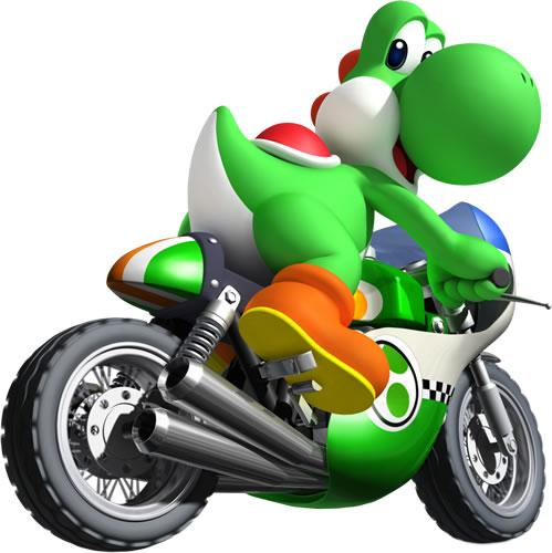 Yoshi On Motocycle