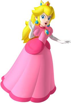 Princess Peach Waving