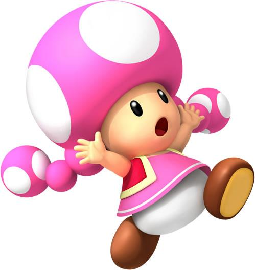 Scared Toadette Running From Something