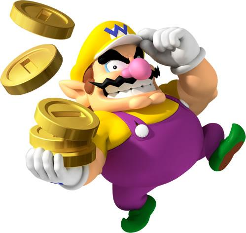 Wario Holding Coins