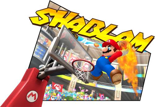 Mario Playing Basketball